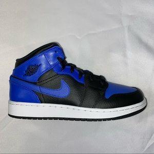 Nike Air Jordan 1 Mid GS Royal Toe 6.5Y 8W
